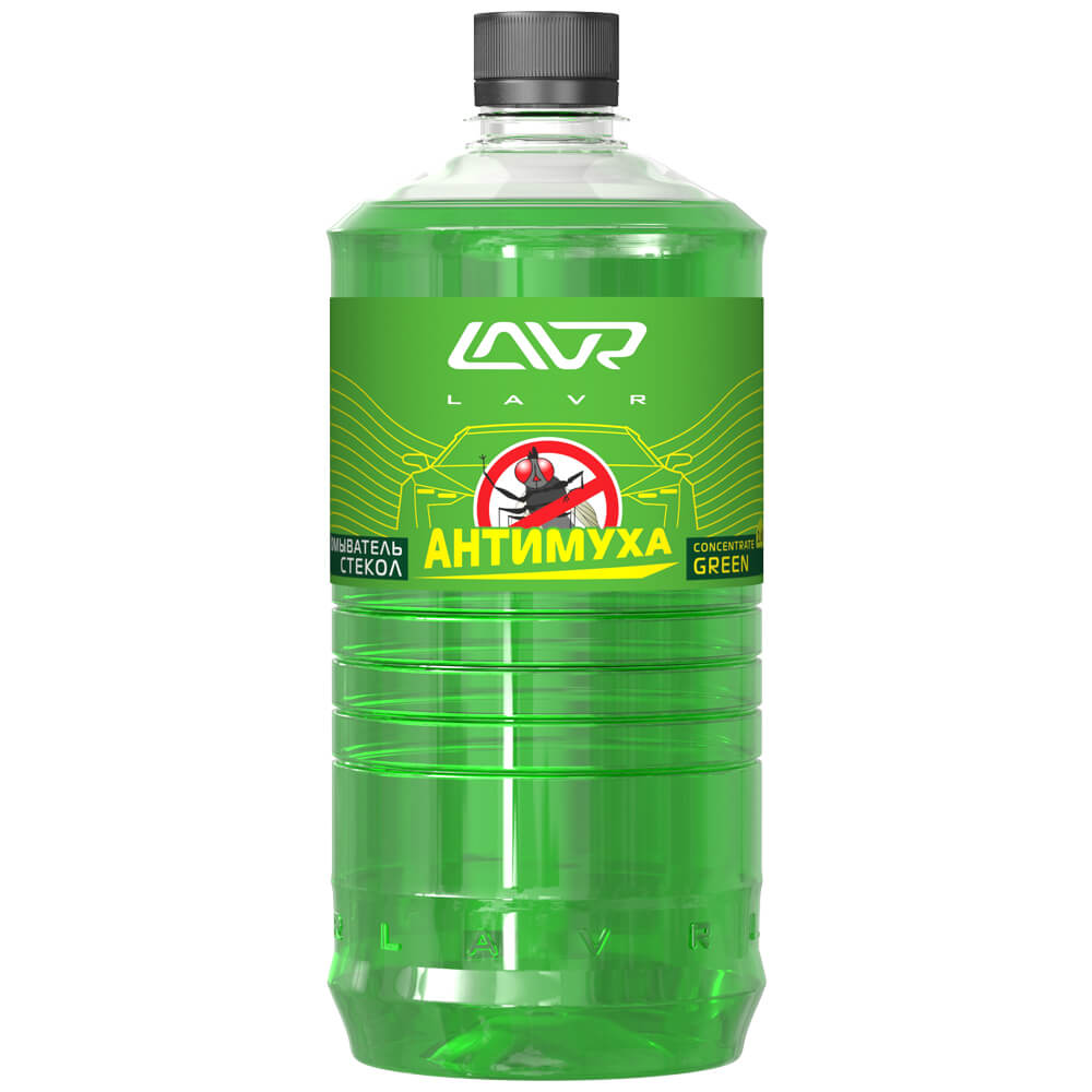 LAVR Омыватель стекол Green Анти Муха концентрат LAVR Glass Washer Concentrate Anti Fly 1л Ln1222